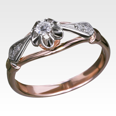 Кольцо из золота с бриллиантами Арт 0101206