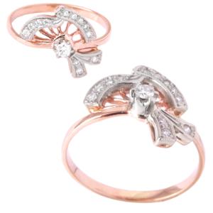 Кольцо из золота с бриллиантами Арт 0101283