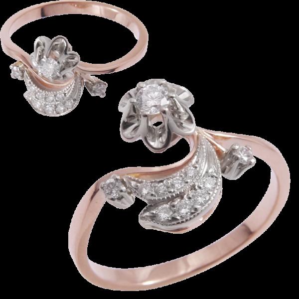 Кольцо из золота с бриллиантами Арт 0101364