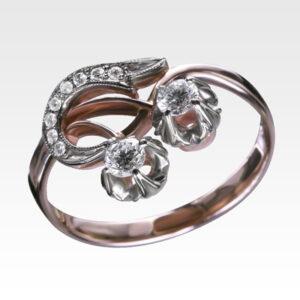 Кольцо из золота с бриллиантами Арт 0101376