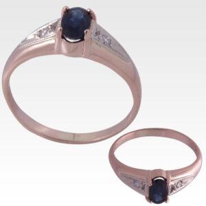 Кольцо из золота с сапфиром и бриллиантами Арт 0301013