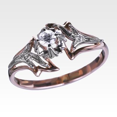 Кольцо из золота с бриллиантами Арт 0101386