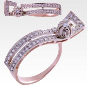 Кольцо из золота с бриллиантами Арт 0101393