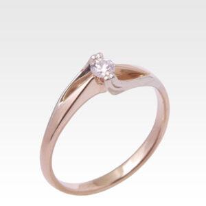 Кольцо из золота с бриллиантом Арт0101428
