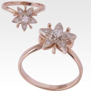 Кольцо из золота с бриллиантами Арт0101434