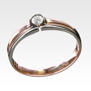 Кольцо из золота с бриллиантом Арт0101529