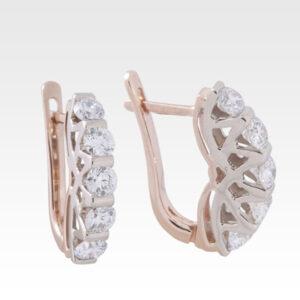Серьги из золота с бриллиантами Арт0102264