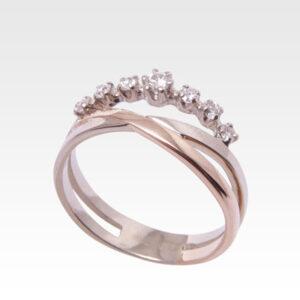 Кольцо из золота с бриллиантами Арт0101583