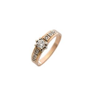 Кольцо из золота с центральным бриллиантом Арт0101786