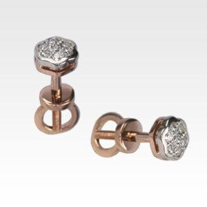 Серьги-пусеты из золота с бриллиантами Арт0102046