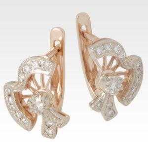 Серьги из золота с бриллиантами Арт0102098