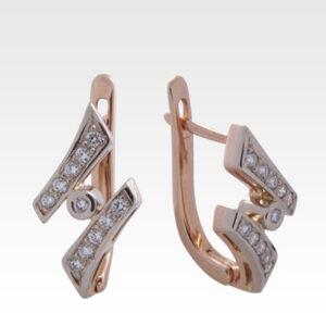 Серьги из золота с бриллиантами Арт0102121