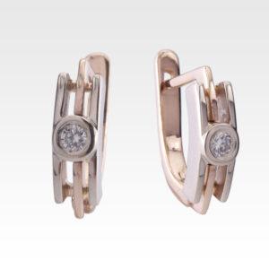 Серьги из золота с бриллиантами Арт0102127