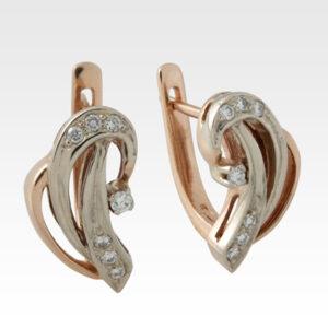 Серьги из золота с бриллиантами Арт0102145