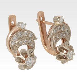 Серьги из золота с бриллиантами Арт0102184