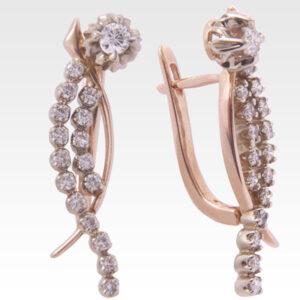 Серьги из золота с бриллиантами Арт0102186
