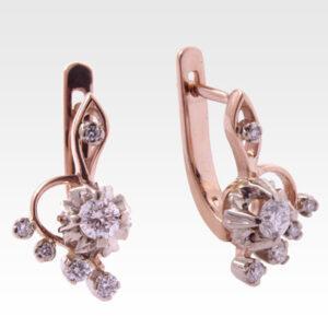 Серьги из золота с бриллиантами Арт0102189