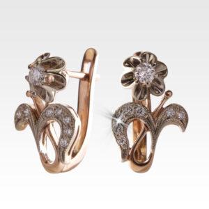 Серьги из золота с бриллиантами Арт0102191