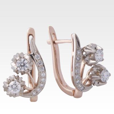 Серьги из золота с бриллиантами Арт0102192
