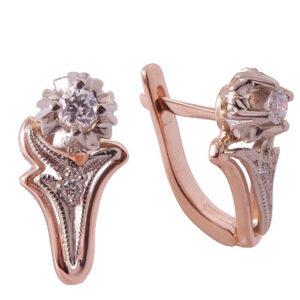Серьги из золота с бриллиантами Арт0102199