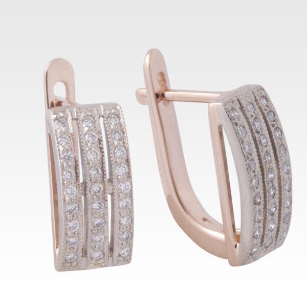 Серьги из золота с бриллиантами Арт0102200