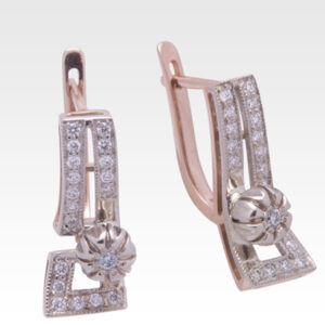 Серьги из золота с бриллиантами Арт0102205
