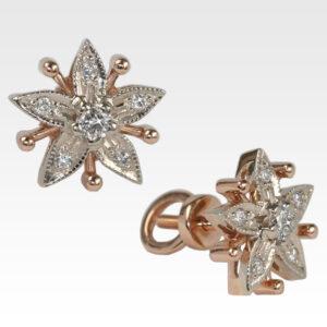 Серьги-пусеты из золота с бриллиантами Арт0102229