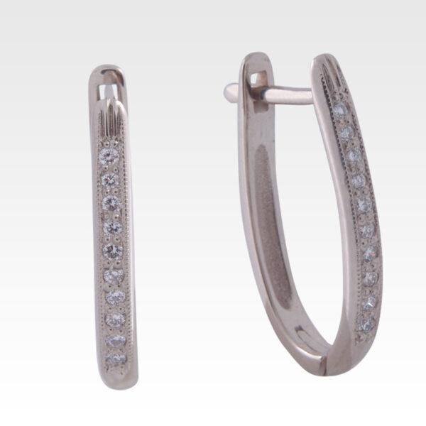 Серьги из белого золота с бриллиантами Арт0102294