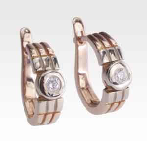 Серьги из белого золота с бриллиантами Арт0102298