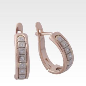 Серьги из золота с бриллиантами Арт0102317