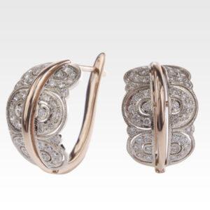 Серьги из золота с бриллиантами Арт0102324