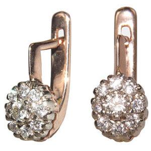 Серьги из золота с бриллиантами Арт0102345