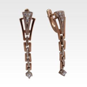 Серьги из золота с бриллиантами Арт0102360