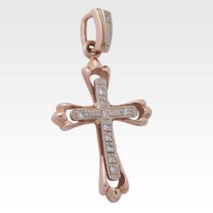 Подвеска-крест из золота с бриллиантами Арт0103018