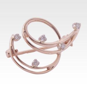 Брошь из золота с бриллиантами Арт0107012