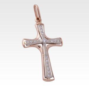 Подвеска-крест из золота с бриллиантами Арт0111026