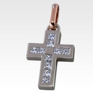 Подвеска-крест из золота с бриллиантами Арт0111032