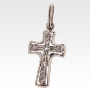 Подвеска-крест из золота с бриллиантами Арт0111096