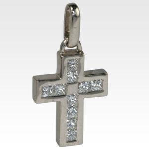Подвеска-крест из золота с бриллиантами Арт0111135