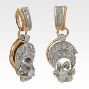 Подвеска из золота с бриллиантами Арт0111184
