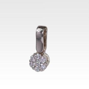 Подвеска из белого золота с бриллиантами Арт0111199