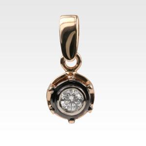 Подвеска из золота с бриллиантом Арт0111211