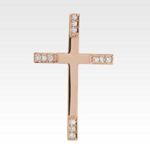 Подвеска-крест из золота с бриллиантами Арт0111232