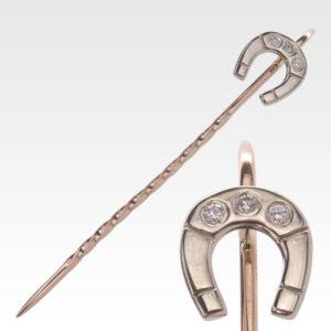 Булавка из золота с бриллиантом Арт0114005