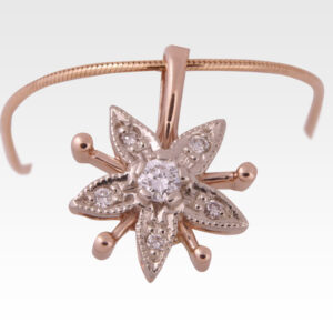 Кулон из золота с бриллиантом с цепочкой Арт0117010