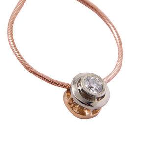 Кулон из золота с бриллиантом с цепочкой Арт0117018