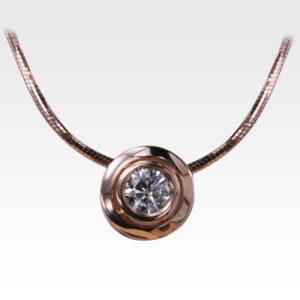Кулон из золота с бриллиантом с цепочкой Арт0117030