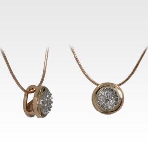 Кулон из золота с бриллиантом с цепочкой Арт0117040