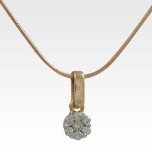 Кулон из золота с бриллиантами с цепочкой Арт0117042