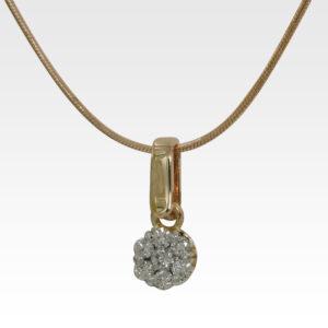 Кулон из золота с бриллиантом с цепочкой Арт0117042